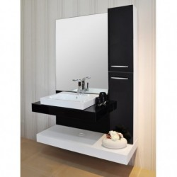Black Acrylic Block Board Modern Bathroom Cabinet