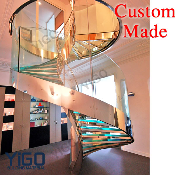 Glass Stainless steel stairs
