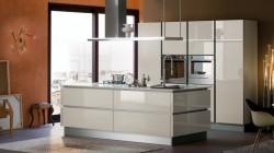 PE Italian piano lacquer kitchen cabinet