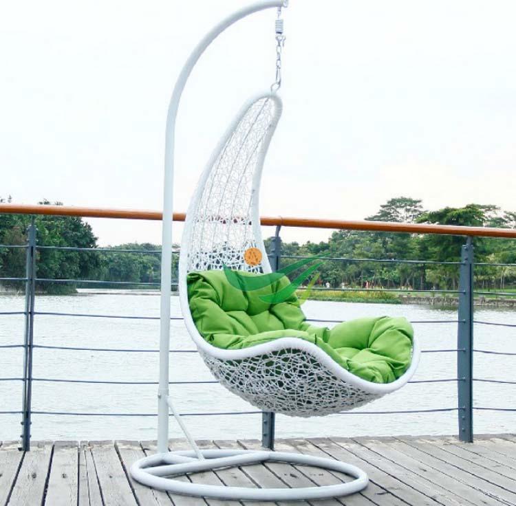 Rattan swing chairs