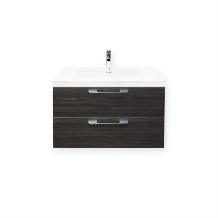 Forme 800mm Oak Satin Cabin Wall Hung Vanity
