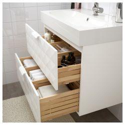 GODMORGON / BRÅVIKEN Wash-stand with 2 drawers – Resjön white – IKEA