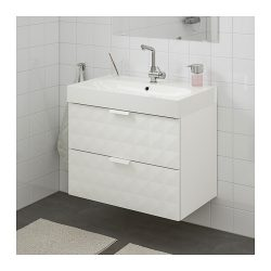 GODMORGON / BRÅVIKEN Wash-stand with 2 drawers – Resjön white – IKEA