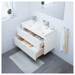 GODMORGON / ODENSVIK Wash-stand with 2 drawers – white – IKEA