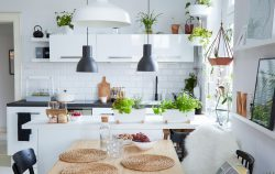 Margo's open-plan kitchen, dining and living room in Poland
