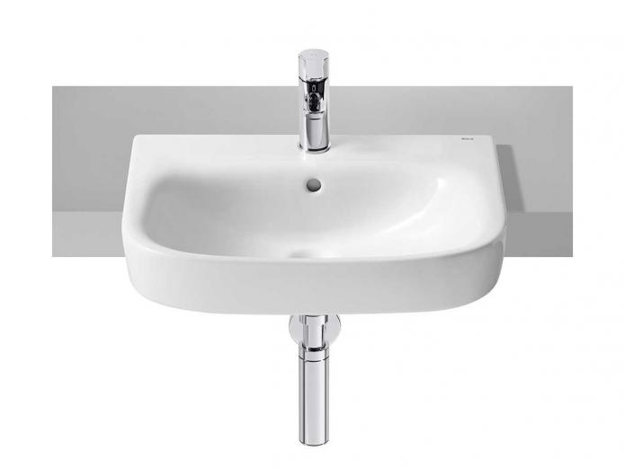 Roca Debba Semi Recessed Basin 520mm x 400mm 1 Taphole White from Reece Australia